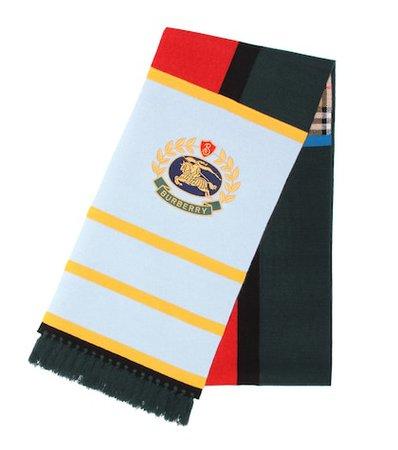 Vintage Check cashmere-blend scarf