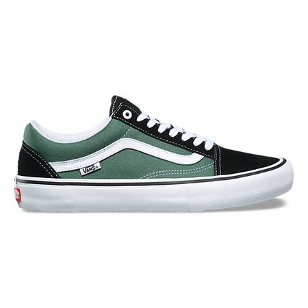 green and black shoes