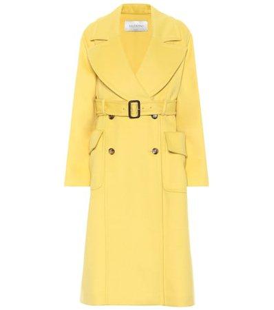 Angora and wool coat