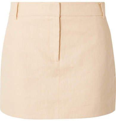 Linen Mini Skirt - Beige