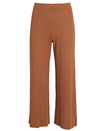 Lanston Rib Knit Straight-Leg Pants | INTERMIX®