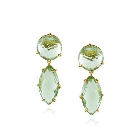 Green Cara Statement Earrings | MOUNIR LONDON | Wolf & Badger