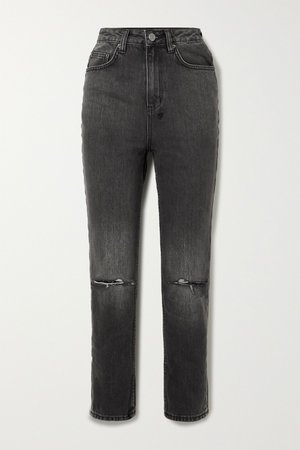 Black Chlo Wasted distressed high-rise straight-leg jeans | Ksubi | NET-A-PORTER