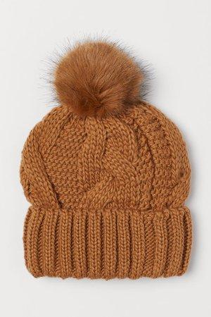 Berretto in misto lana - Marrone chiaro - DONNA   H&M IT
