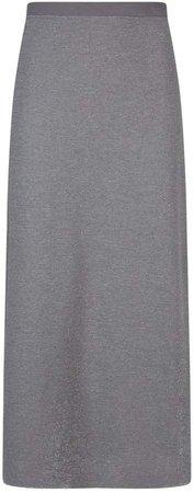D.Exterior Ribbed Lurex Maxi Skirt