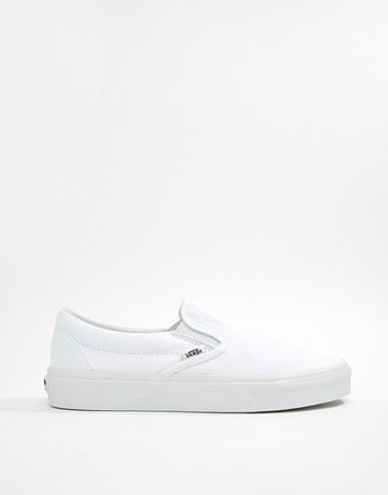 Vans Classic Slip-On plimsolls in white | ASOS
