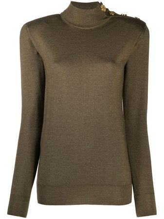 Balmain fine-knit top