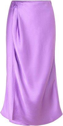 Sara Draped Satin Peplum skirt By Stine Goya   Moda Operandi - Google Search