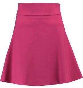 Flared Crepe Mini Skirt