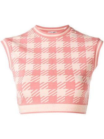 Alaïa Vintage houndstooth cropped top