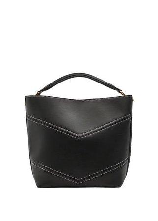 MANGO Contrast seam bag