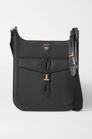 TOM FORD | T Twist medium textured-leather shoulder bag | NET-A-PORTER.COM