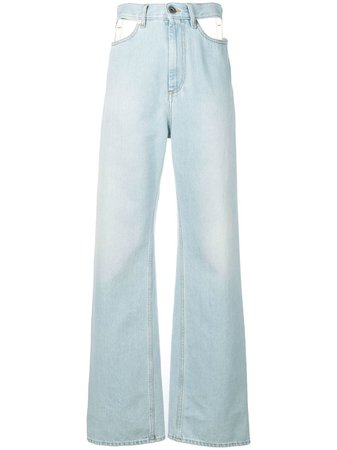 wide leg jeans Farfetch