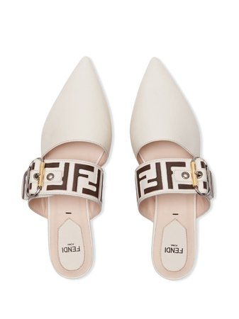 Fendi Debossed FF Logo Mules - Farfetch