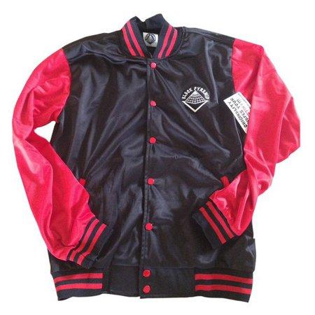 jacket, chris brown, black pyramid, red, black, dope, swag - Wheretoget