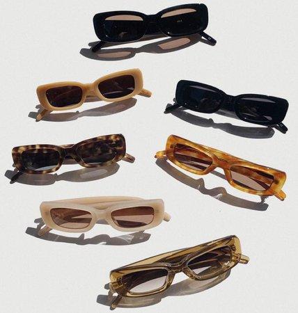 beige brown nude black green sunglasses