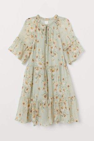 Short Chiffon Dress - Green
