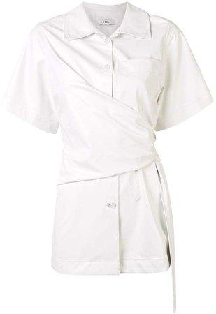 knot-detail short sleeve shirt