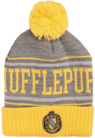 Amazon.com: Harry Potter Hufflepuff Pom Beanie: Clothing