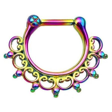 rainbow septum ring