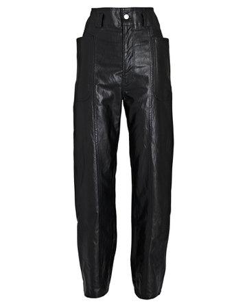 Isabel Marant Étoile Tessini Vegan Leather Straight-Leg Pants   INTERMIX®