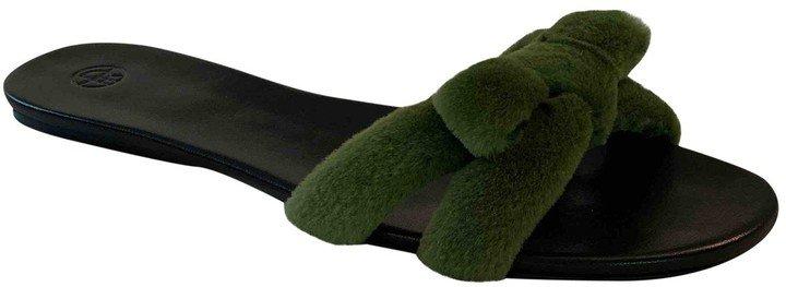 Green Mink Sandals