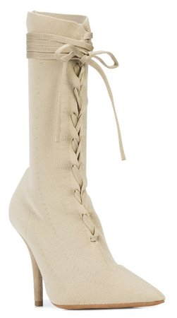 YEEZY Nude Lace-Up Boots