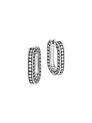 John Hardy - Dot Small Sterling Silver Link Hoop Earrings - saksoff5th.com