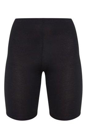 Basic Black Bike Shorts PrettyLittleThing
