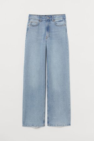Wide High Jeans - Blue