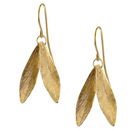 Catherine Zoraida Gold Double Leaf Earrings - Kate Middleton Earrings - Kate's Closet