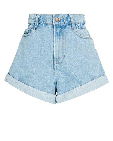 Retrofête Haisley High-Rise Denim Shorts | INTERMIX®