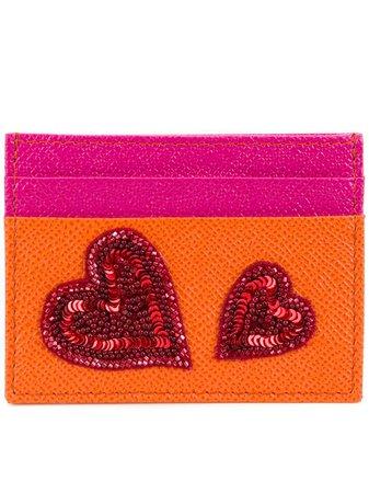 Dolce & Gabbana Sequin Heart Appliqué Cardholder - Farfetch