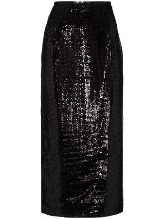 ANOUKI high-waisted Sequined Midi Skirt - Farfetch