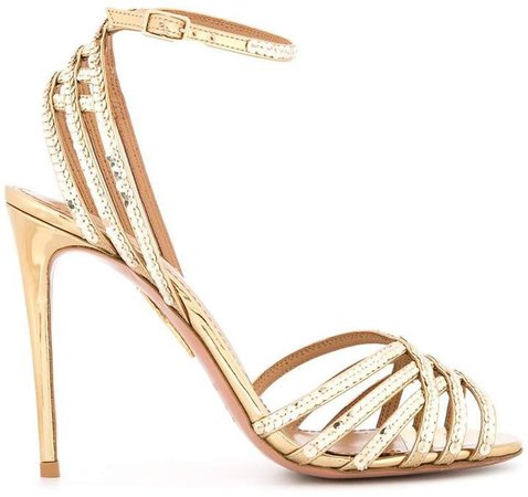 sequin strappy sandals