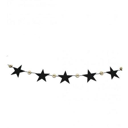 Trouva: Black Eco Felt Xmas String Star Garlands (Set of 2)