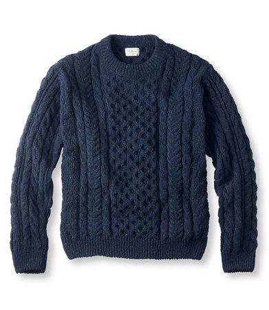 Heritage Sweater, Irish Fisherman's Crewneck