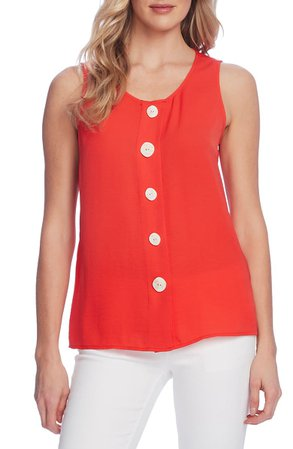 Vince Camuto Sleeveless Button-Up Blouse | Nordstrom