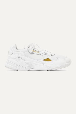 Falcon Leather And Mesh Sneakers - White