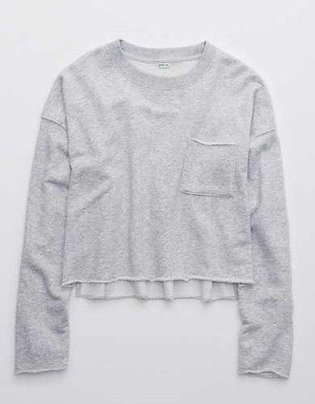 Aerie Cropped Crewneck sweatshirt