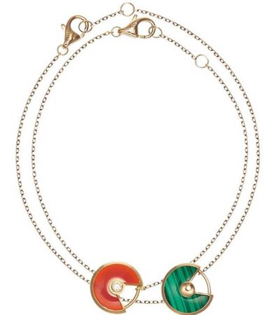 cartier necklace orange and green