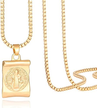 Amazon.com: 18k Gold Plated Medallion Necklace Coin Pendant Round Circle Disk Minimalist Jewelry for Women 20'': Clothing