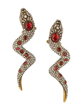 Gucci, Crystal Snake Earrings
