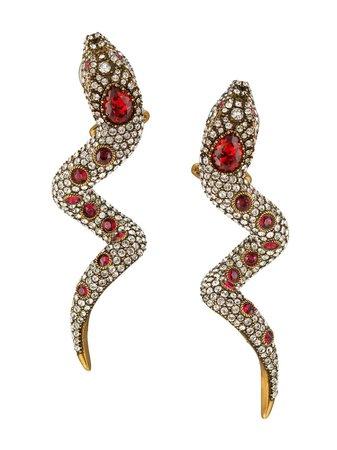 Gucci, Crystal Snake Earrings