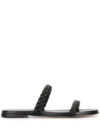 Gianvito Rossi braided strap flat sandals - FARFETCH