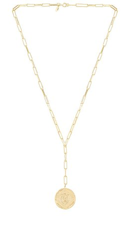 gorjana Ana Coin Lariat Necklace in Gold | REVOLVE