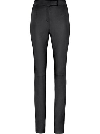 FENTY Leather Skinny Trousers With Slits