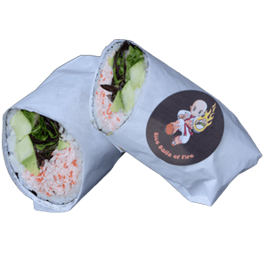 *clipped by @luci-her* California Sushi Burrito Rice Balls of Fire