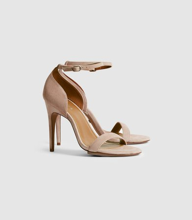 Paula Taupe Suede Strappy Sandals – REISS