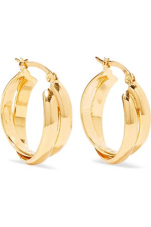 Sophie Buhai | Gold vermeil hoop earrings | NET-A-PORTER.COM